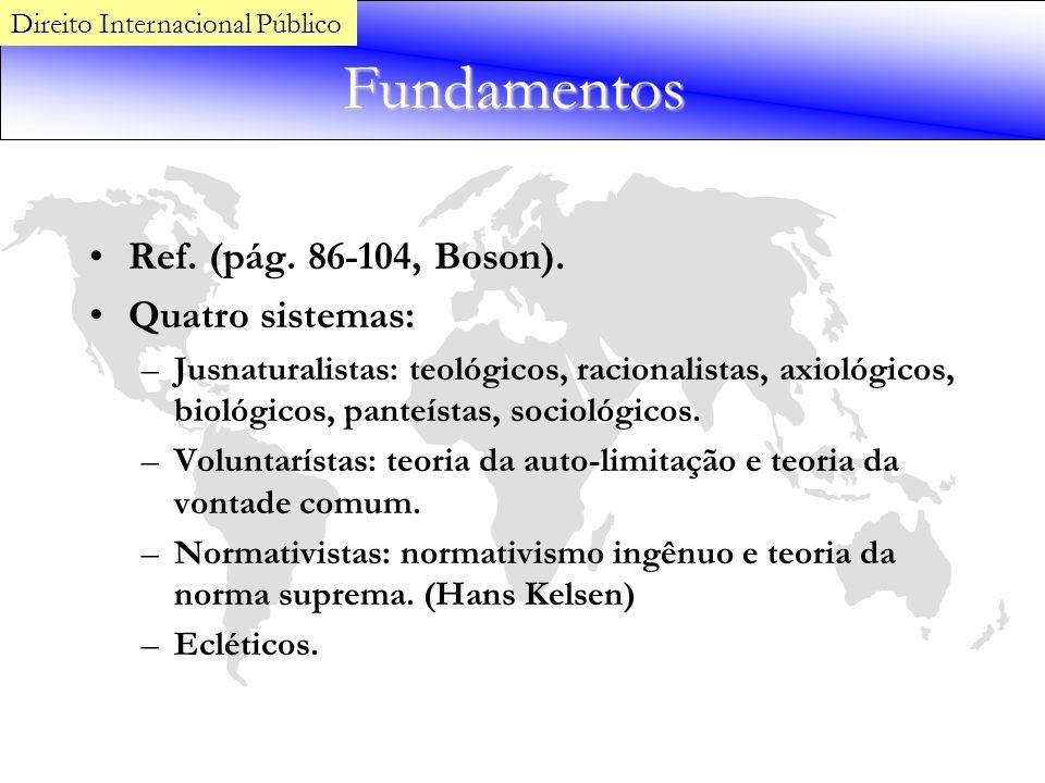 Fundamentos Ref. (pág. 86-104, Boson). Quatro sistemas: