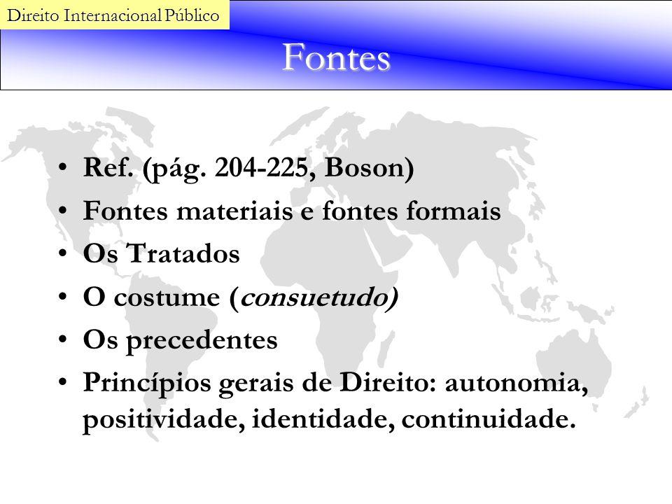 Fontes Ref. (pág. 204-225, Boson) Fontes materiais e fontes formais