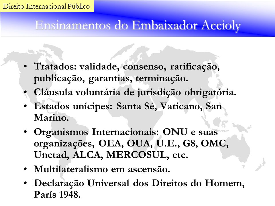 Ensinamentos do Embaixador Accioly