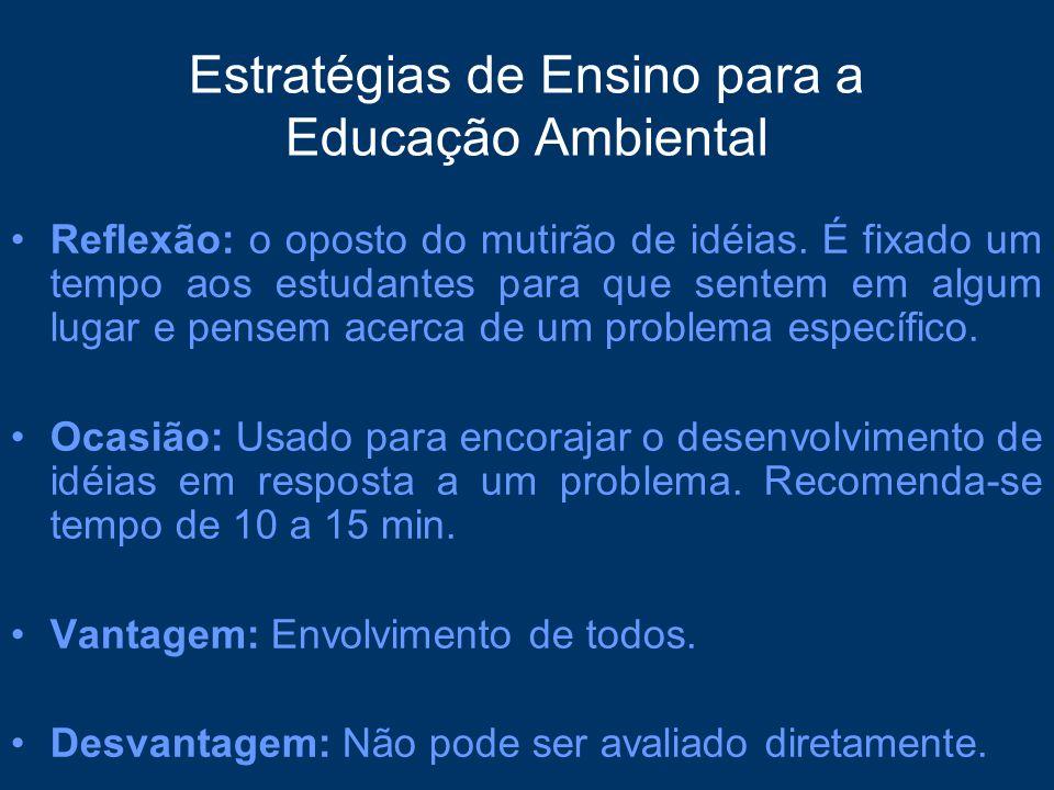 Estratégias de Ensino para a Educação Ambiental
