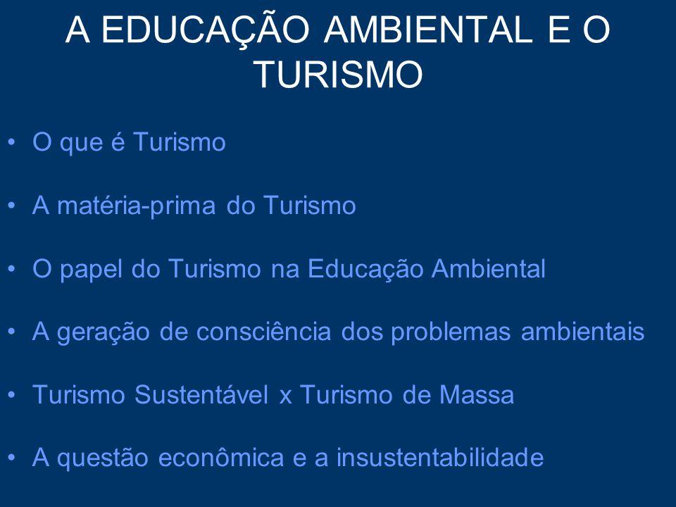 A EDUCAÇÃO AMBIENTAL E O TURISMO