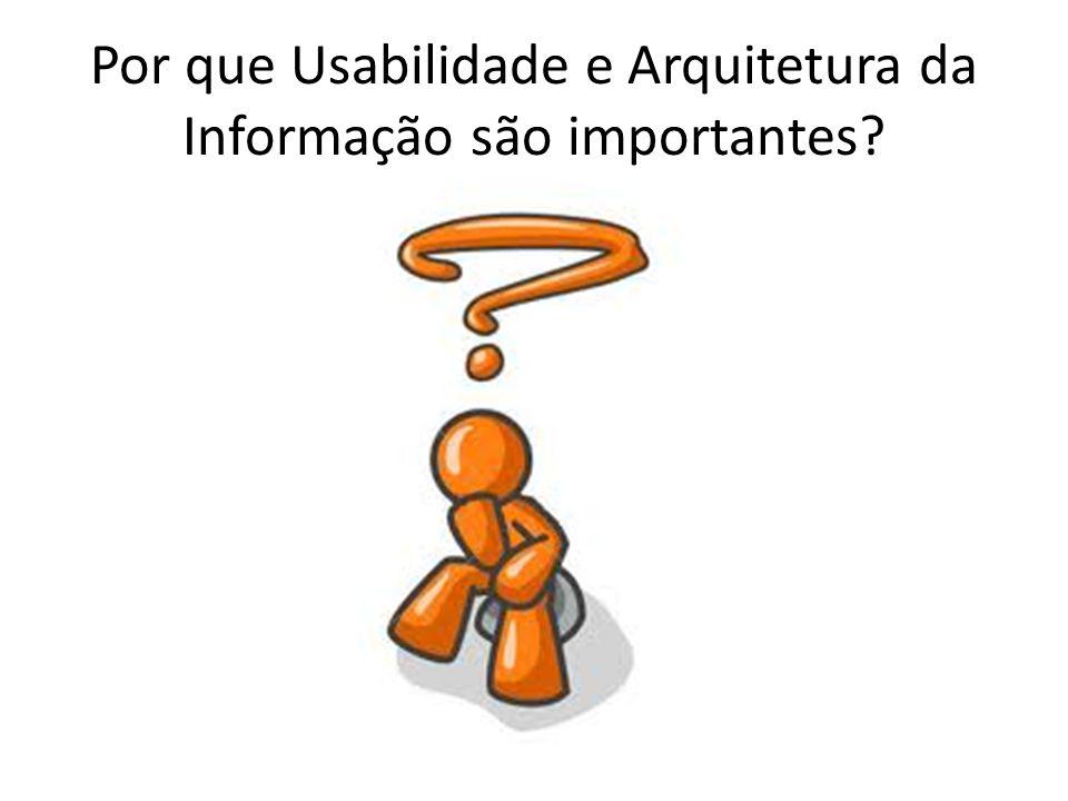 Por que Usabilidade e Arquitetura da Informação são importantes