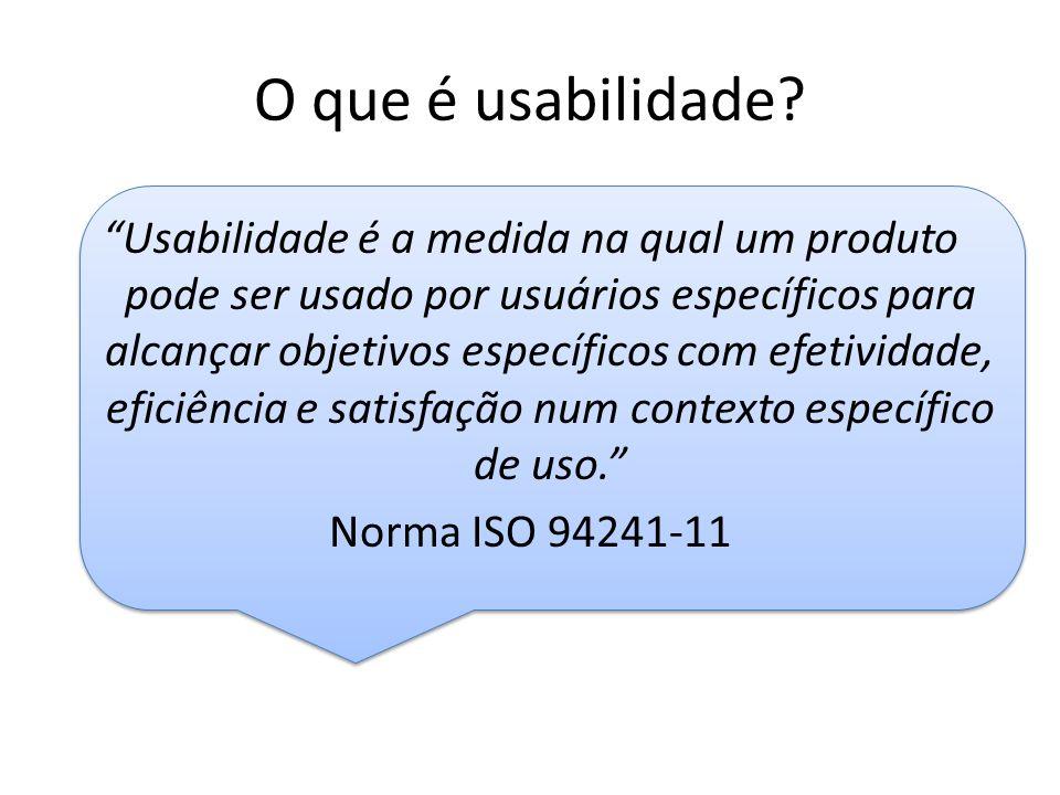 O que é usabilidade