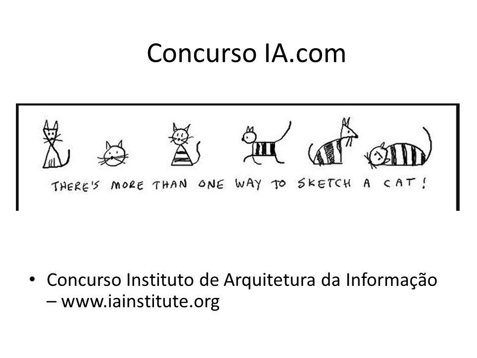 Concurso IA.com Concurso Instituto de Arquitetura da Informação – www.iainstitute.org