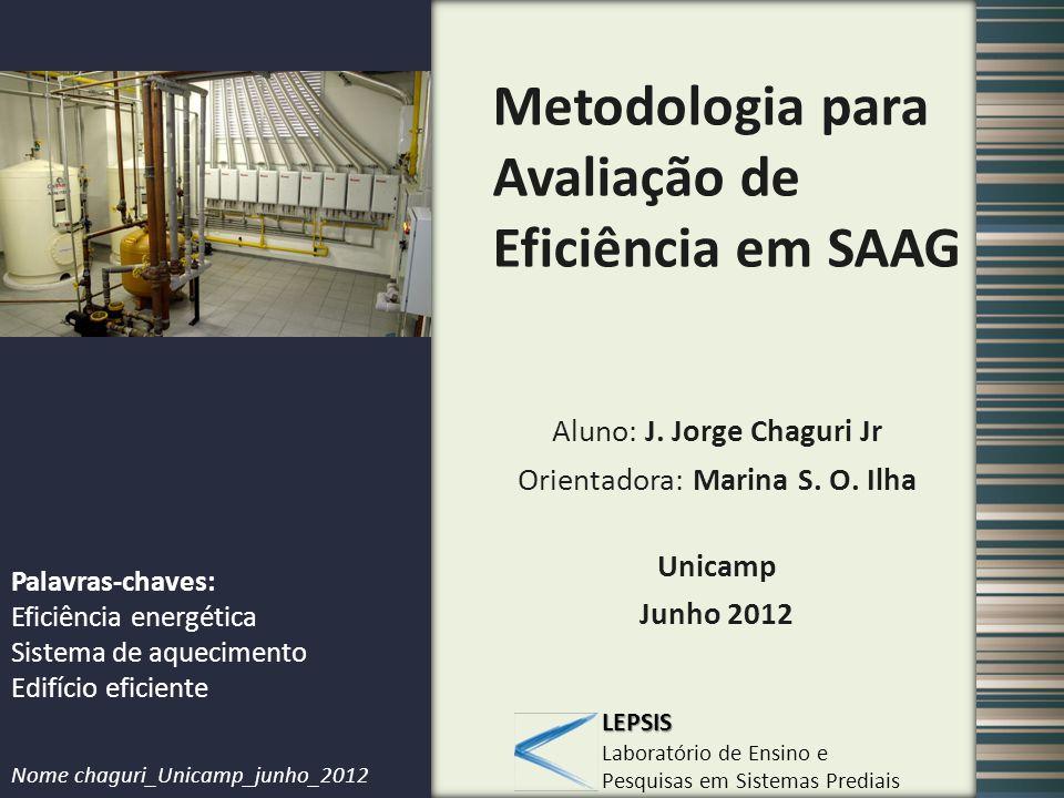 Metodologia para Avaliação de Eficiência em SAAG