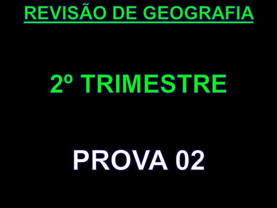 REVISÃO DE GEOGRAFIA 2º TRIMESTRE PROVA 02