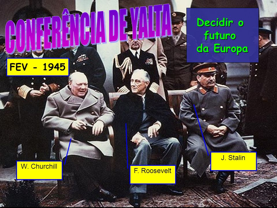 CONFERÊNCIA DE YALTA Decidir o futuro da Europa FEV - 1945 J. Stalin