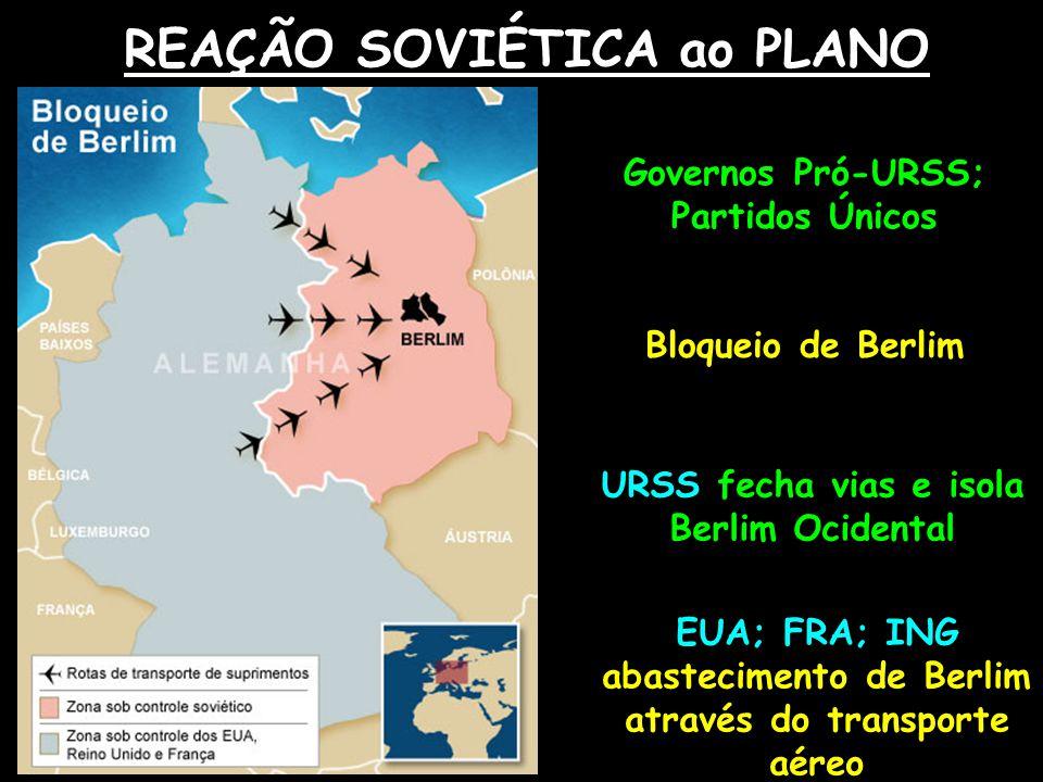 REAÇÃO SOVIÉTICA ao PLANO