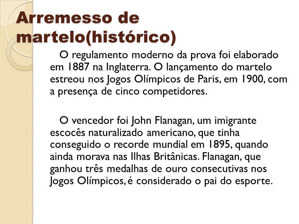 Arremesso de martelo(histórico)