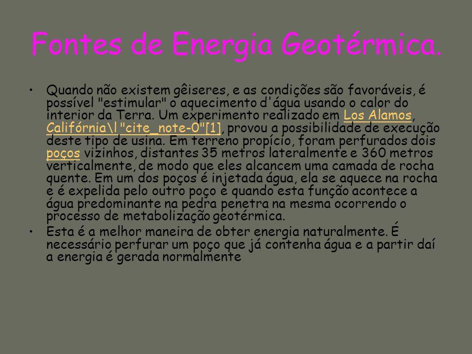 Fontes de Energia Geotérmica.