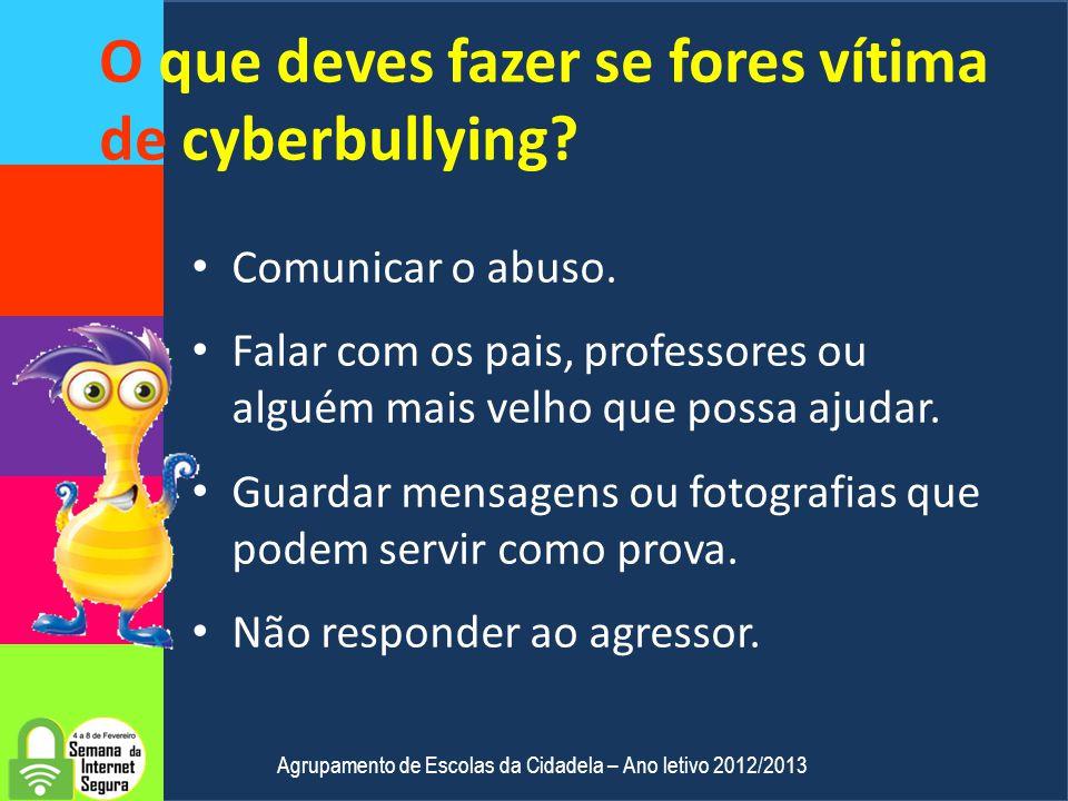 O que deves fazer se fores vítima de cyberbullying