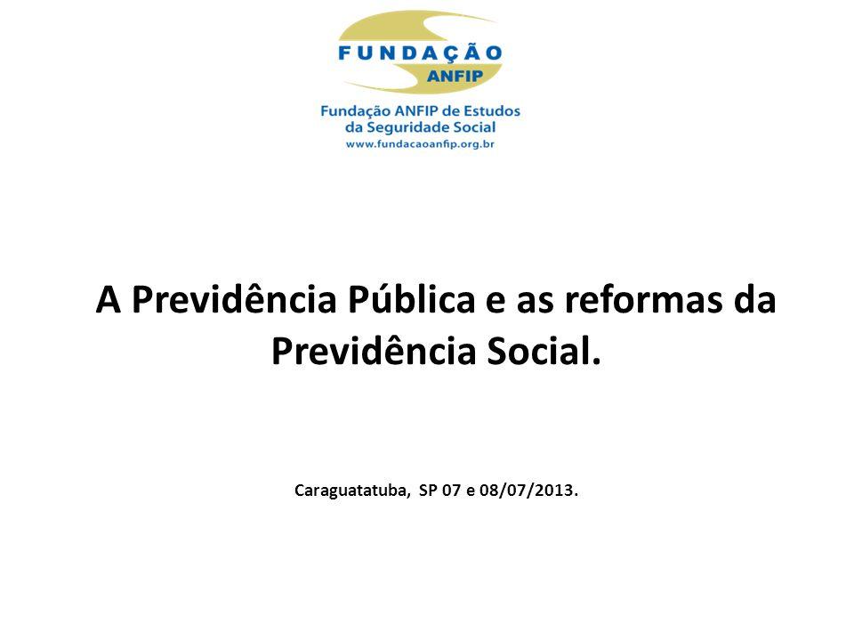 A Previdência Pública e as reformas da Previdência Social.