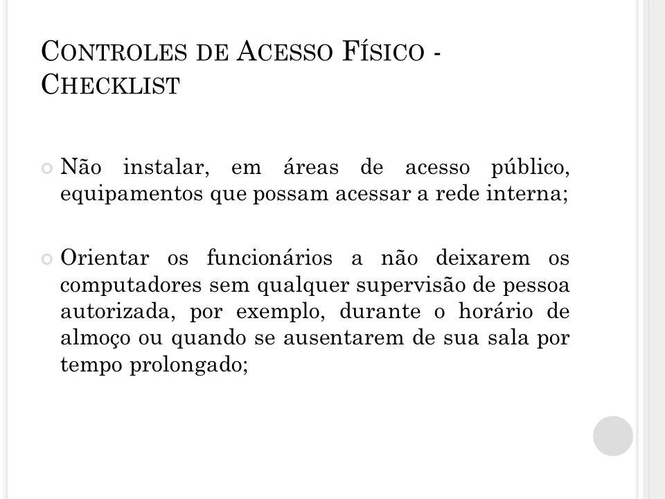 Controles de Acesso Físico - Checklist