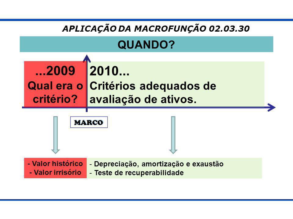 APLICAÇÃO DA MACROFUNÇÃO 02.03.30