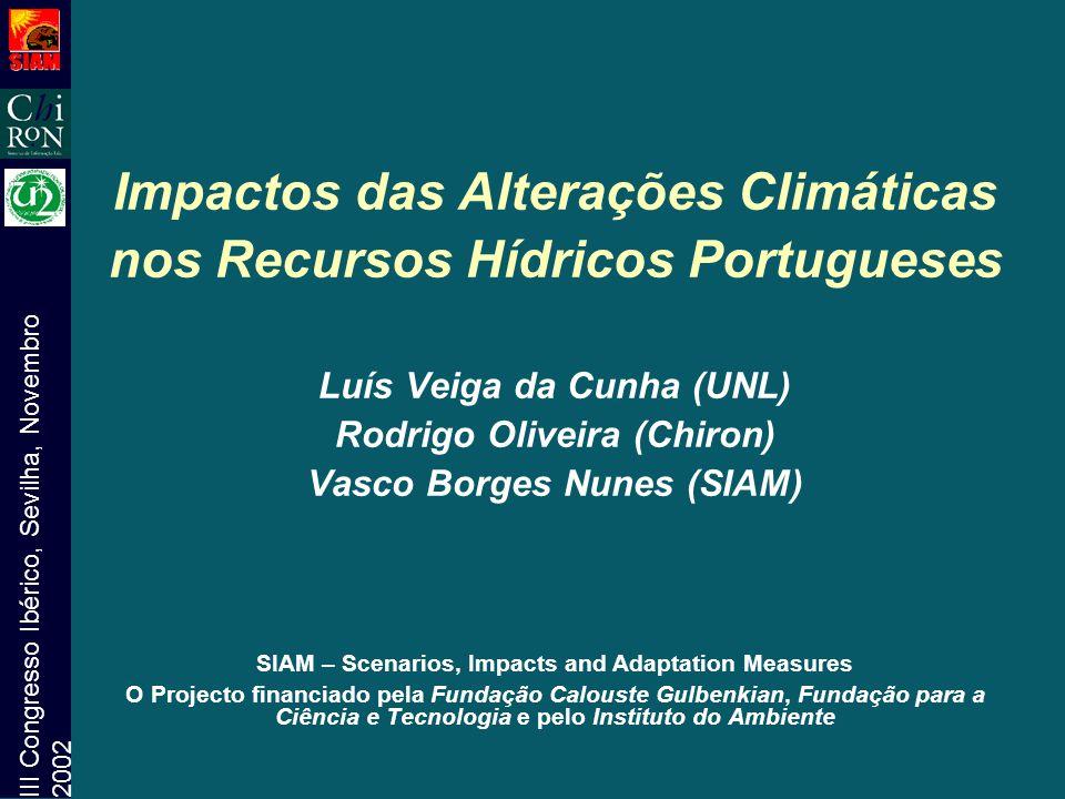 Impactos das Alterações Climáticas nos Recursos Hídricos Portugueses