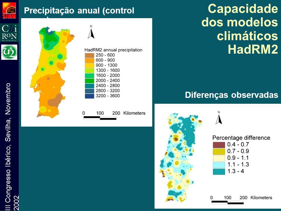 Capacidade dos modelos climáticos HadRM2
