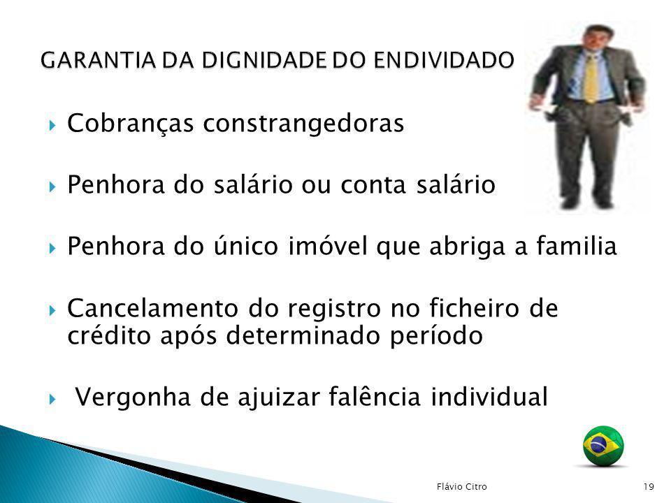 GARANTIA DA DIGNIDADE DO ENDIVIDADO