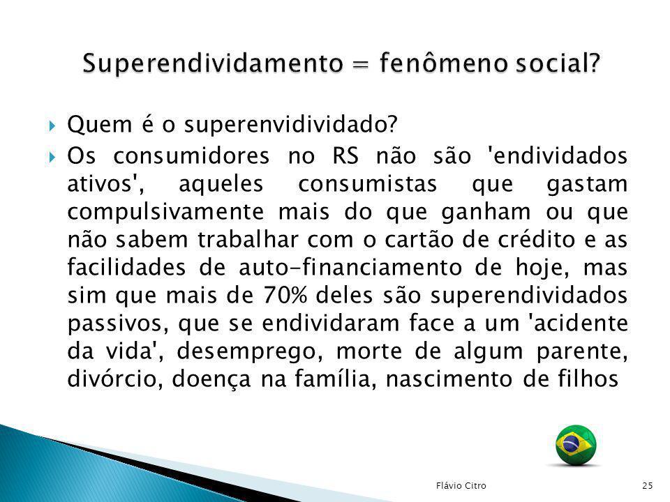 Superendividamento = fenômeno social
