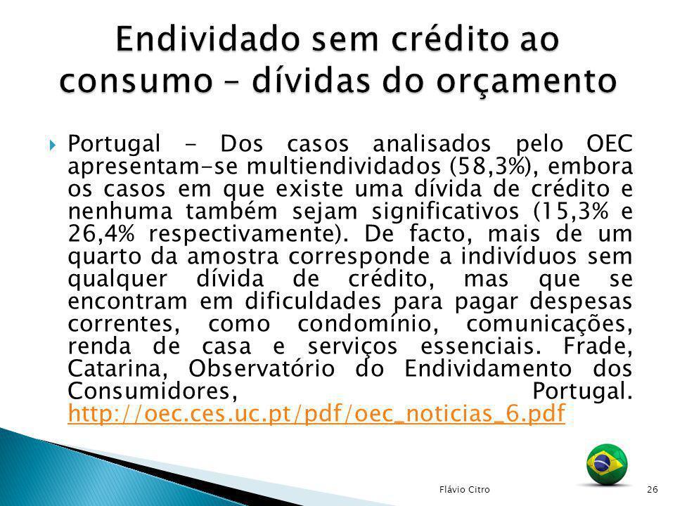 Endividado sem crédito ao consumo – dívidas do orçamento