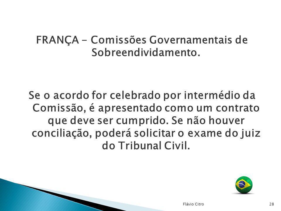 FRANÇA - Comissões Governamentais de Sobreendividamento