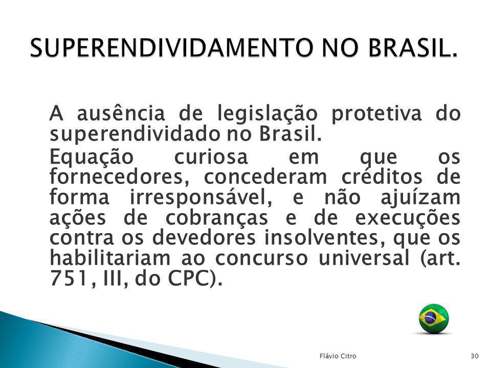 SUPERENDIVIDAMENTO NO BRASIL.