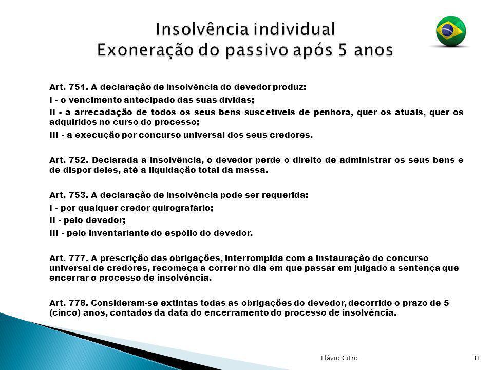 Insolvência individual Exoneração do passivo após 5 anos
