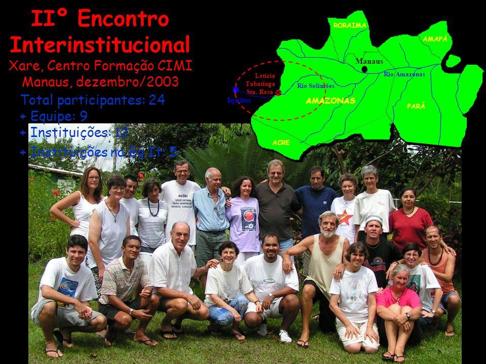 IIº Encontro Interinstitucional Xare, Centro Formação CIMI Manaus, dezembro/2003