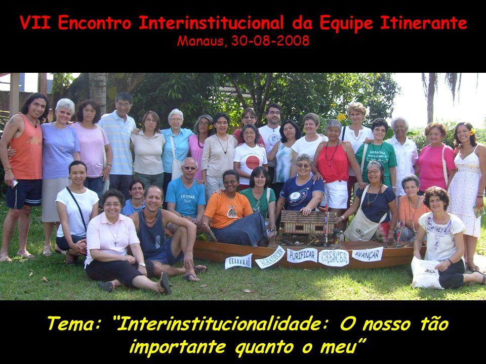 Tema: Interinstitucionalidade: O nosso tão importante quanto o meu