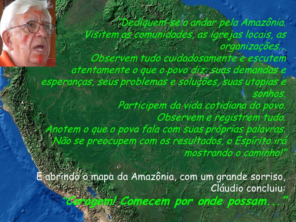 Dediquem-se a andar pela Amazônia.