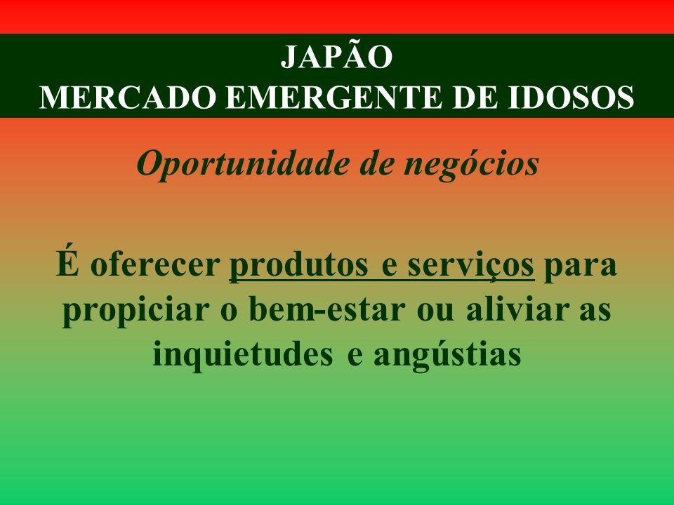 JAPÃO MERCADO EMERGENTE DE IDOSOS