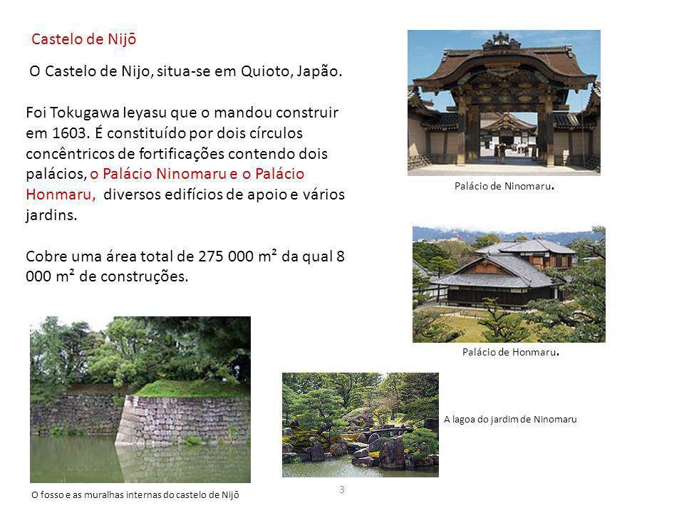 O Castelo de Nijo, situa-se em Quioto, Japão.