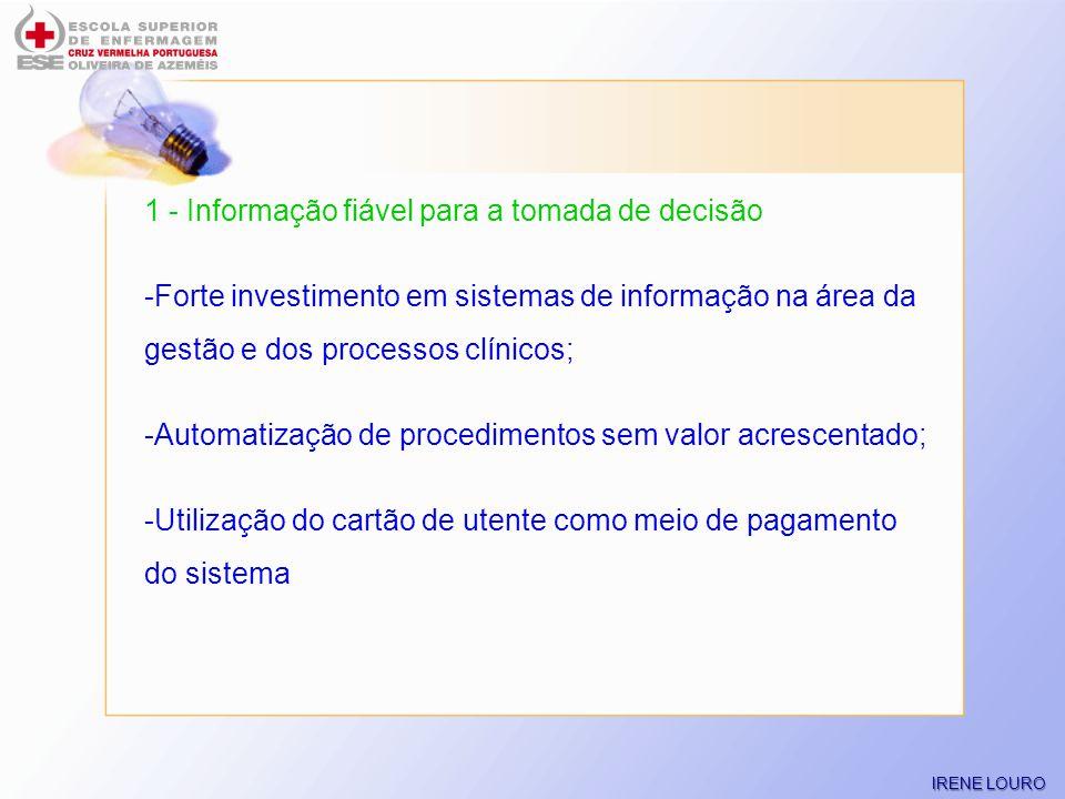 1 - Informação fiável para a tomada de decisão