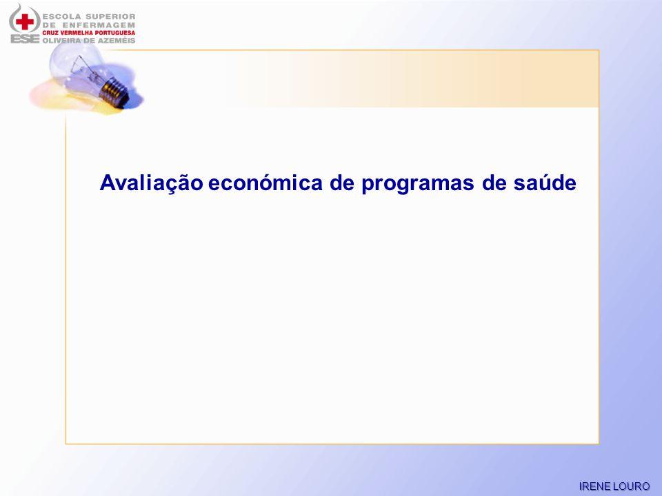 Avaliação económica de programas de saúde