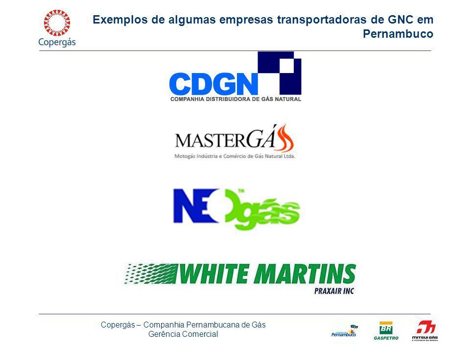 Exemplos de algumas empresas transportadoras de GNC em Pernambuco