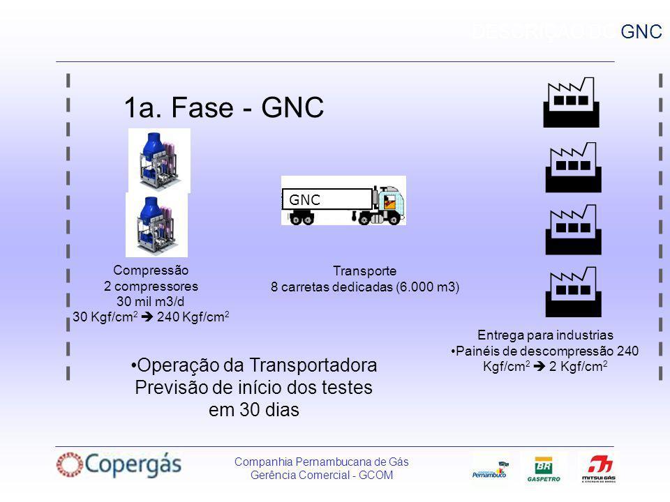     1a. Fase - GNC DESCRIÇAO DO GNC Operação da Transportadora