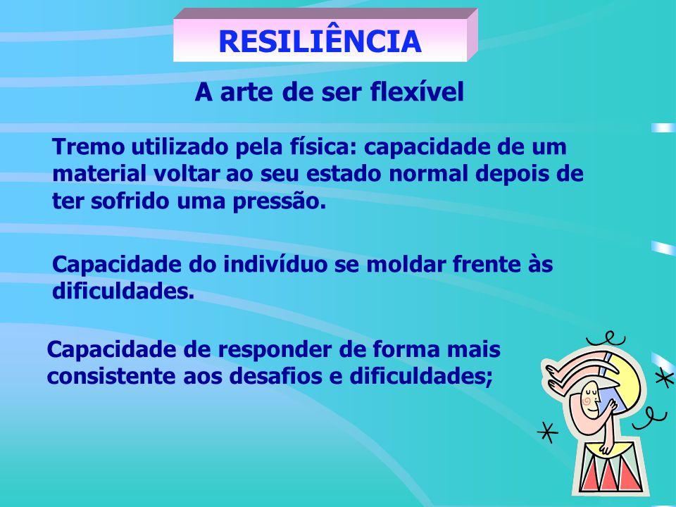 RESILIÊNCIA A arte de ser flexível