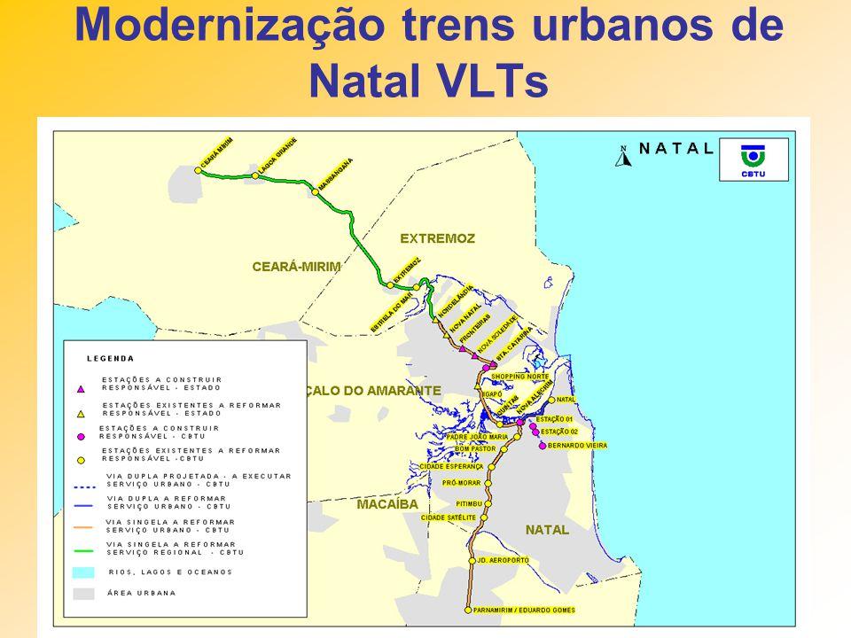 Modernização trens urbanos de Natal VLTs
