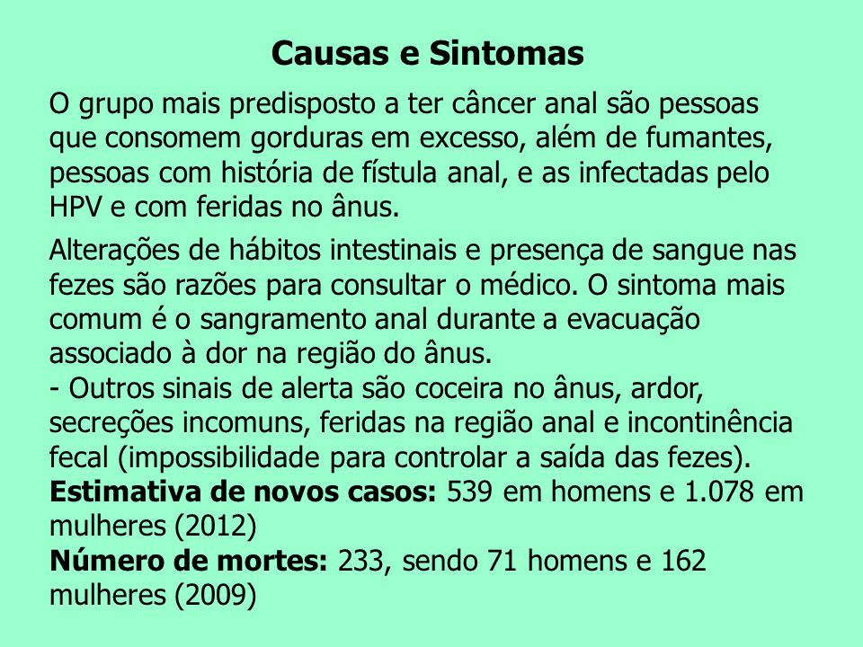 Causas e Sintomas