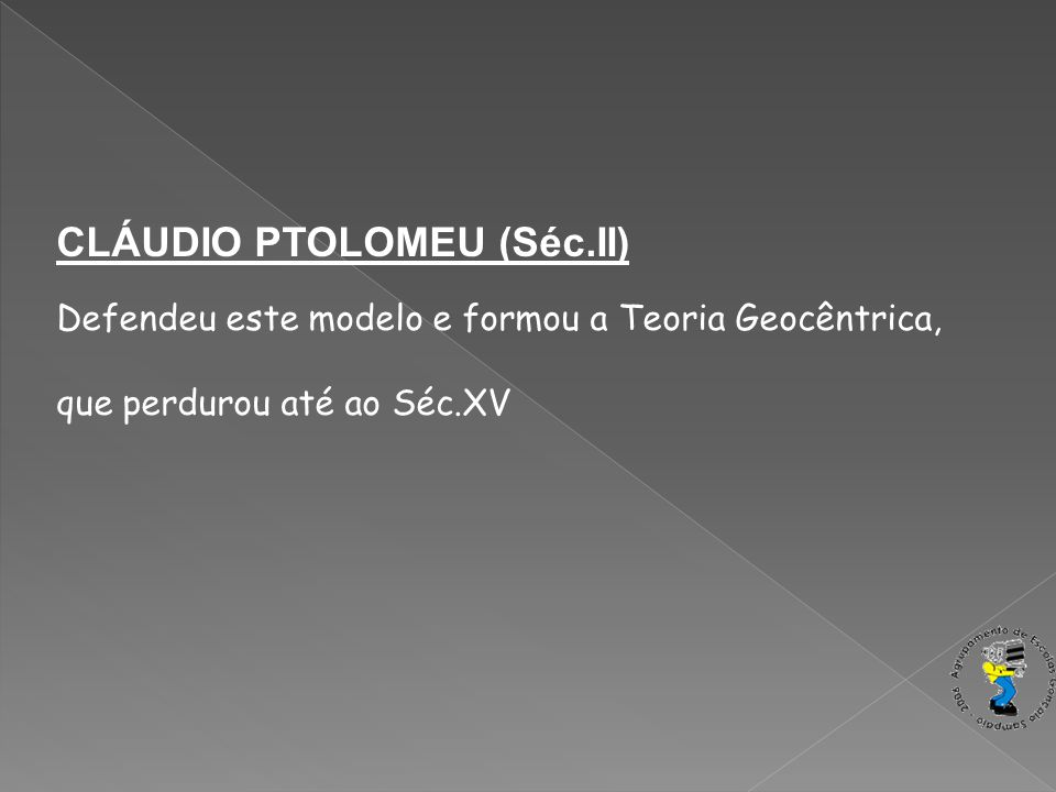 CLÁUDIO PTOLOMEU (Séc.II)