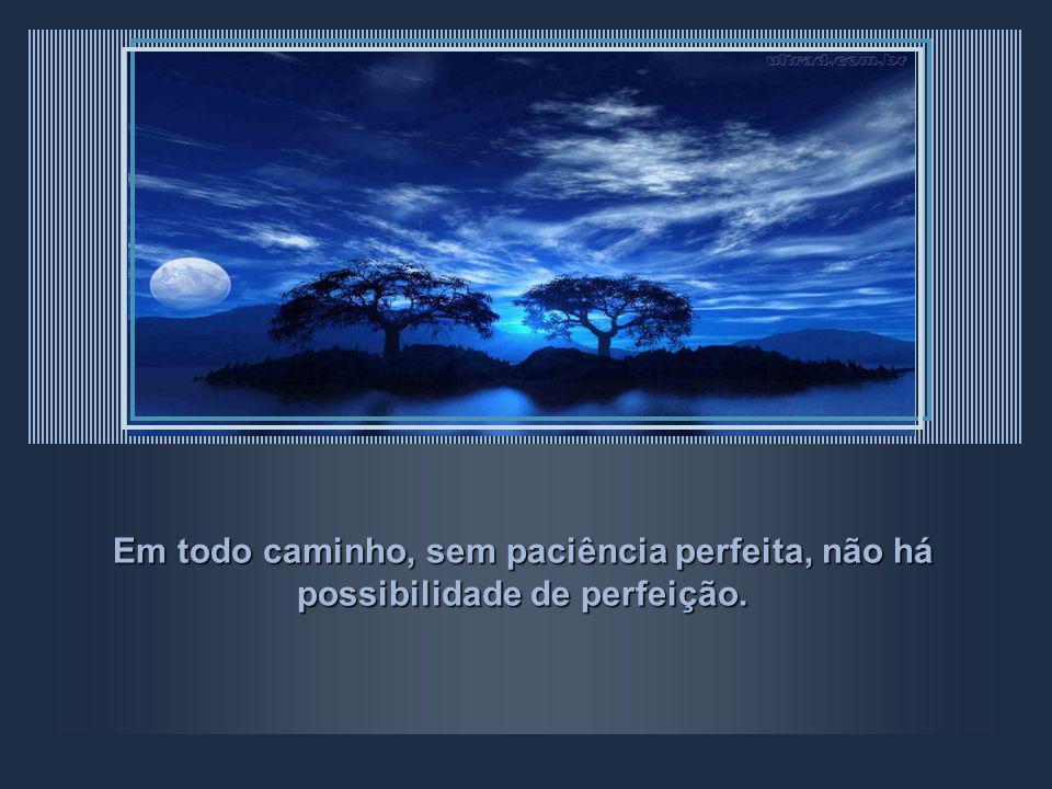 Em todo caminho, sem paciência perfeita, não há possibilidade de perfeição.