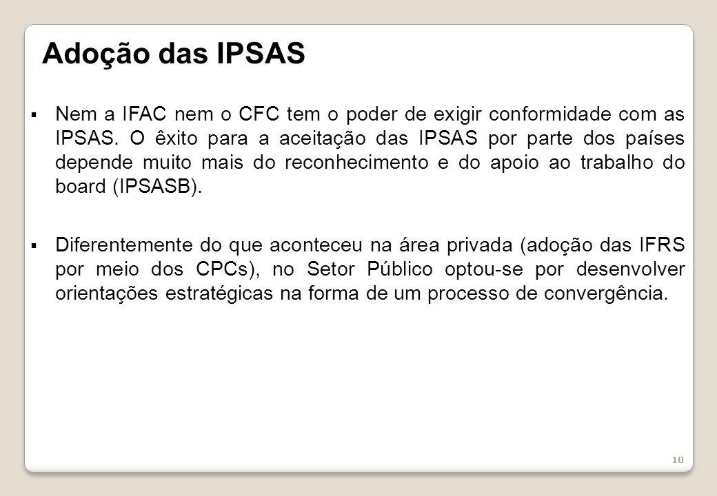 Adoção das IPSAS