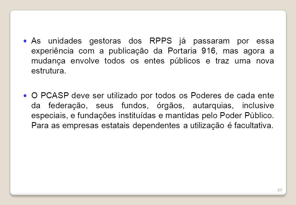 As unidades gestoras dos RPPS já passaram por essa experiência com a publicação da Portaria 916, mas agora a mudança envolve todos os entes públicos e traz uma nova estrutura.