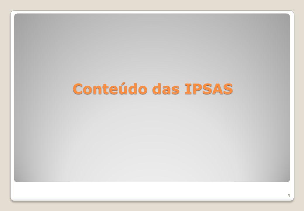 Conteúdo das IPSAS