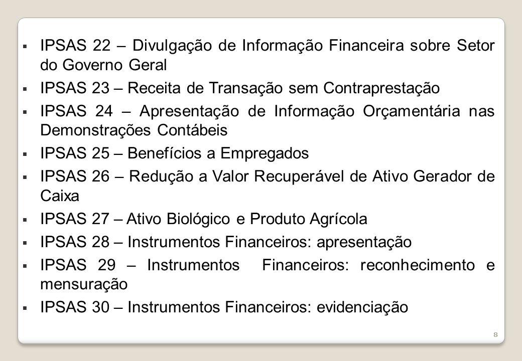 IPSAS 22 – Divulgação de Informação Financeira sobre Setor do Governo Geral