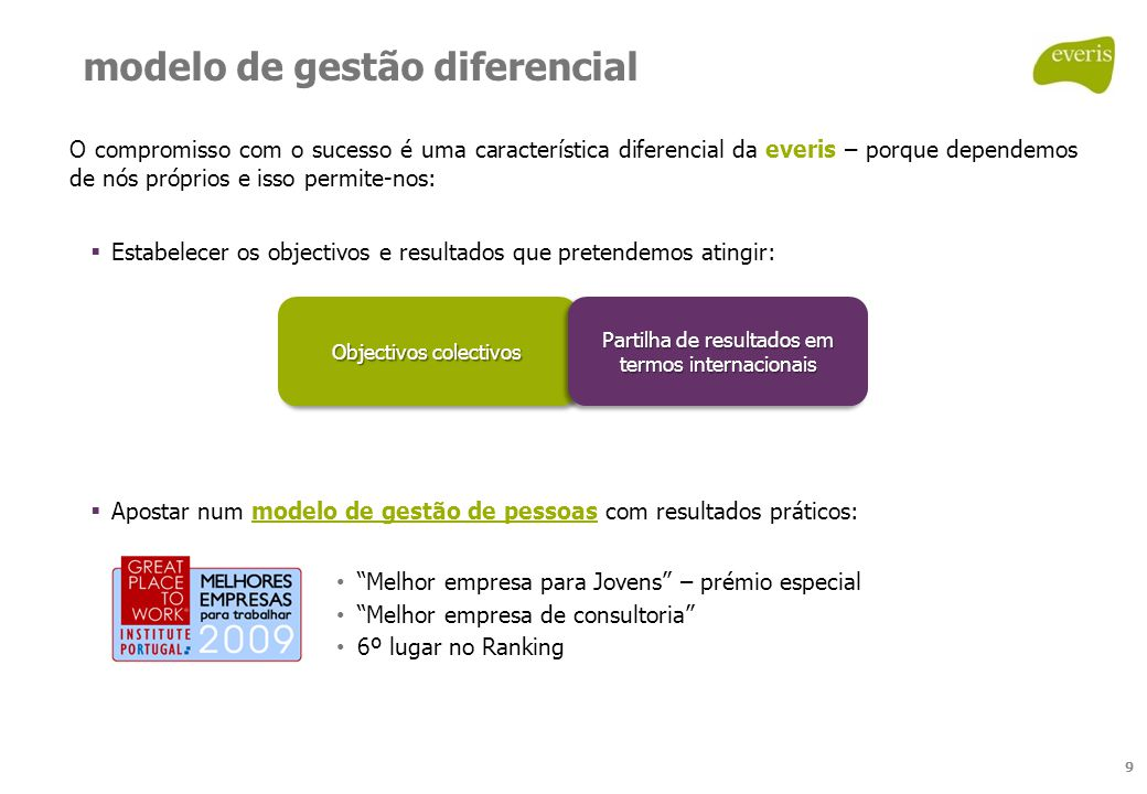 modelo de gestão diferencial