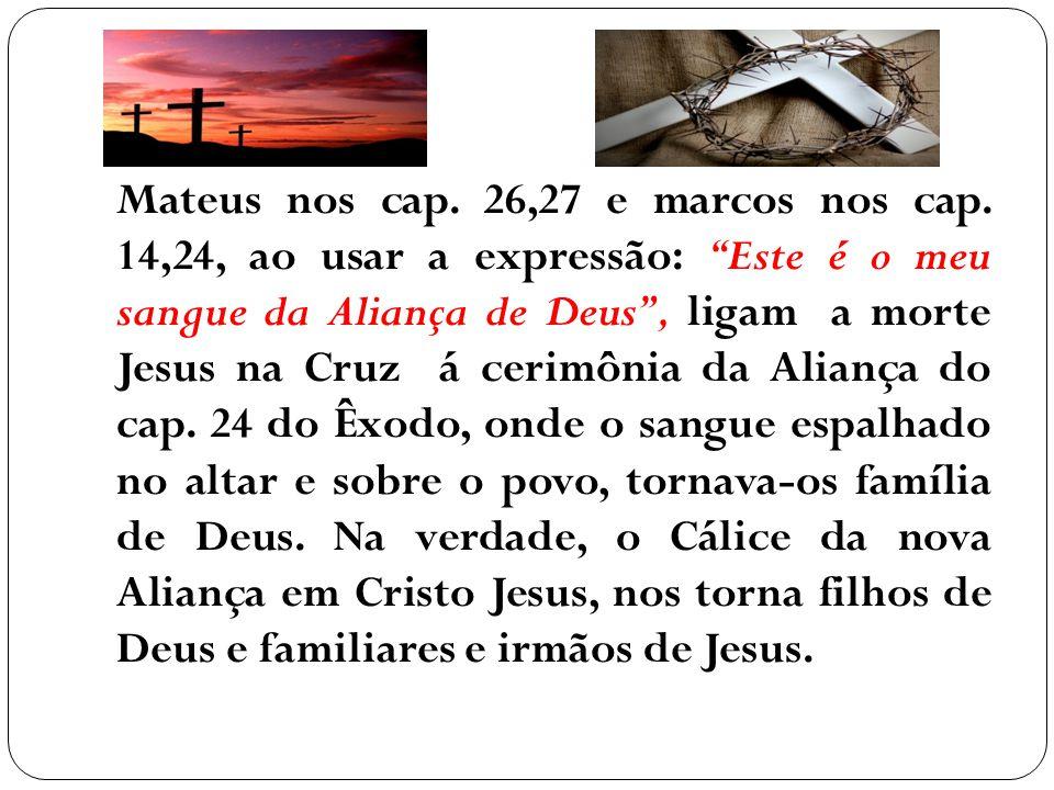 Mateus nos cap. 26,27 e marcos nos cap