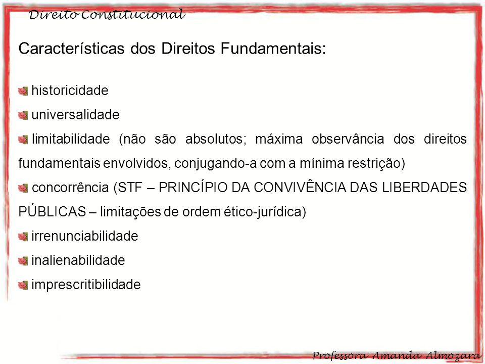 Características dos Direitos Fundamentais: