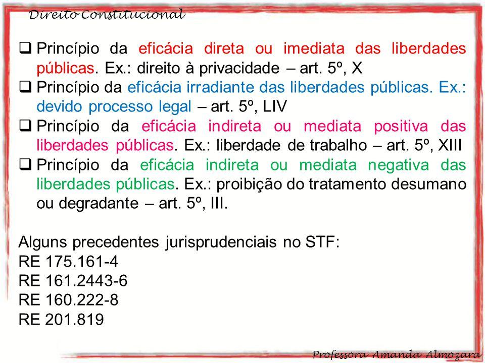 Alguns precedentes jurisprudenciais no STF: RE 175.161-4 RE 161.2443-6