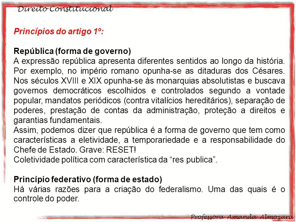 Princípios do artigo 1º: República (forma de governo)