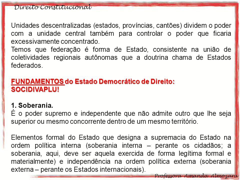 FUNDAMENTOS do Estado Democrático de Direito: SOCIDIVAPLU!